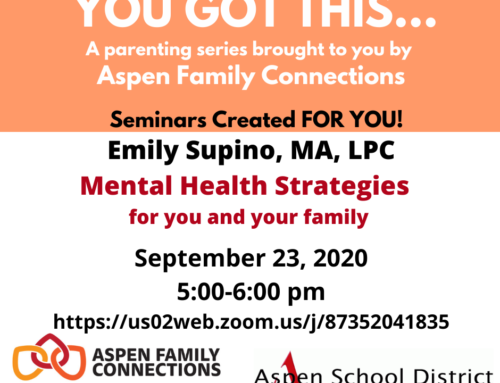 YOU GOT THIS… PARENTING EVENT with Emily Supino, MA, LPC