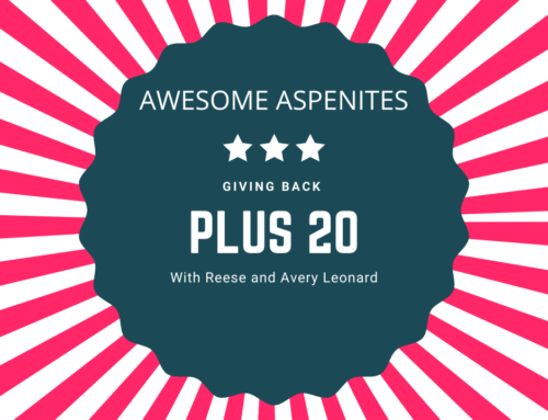 Awesome Aspenites… Reese and Avery Leonard with Plus20